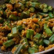 Okra Curry (Bhindi Masala) using Mama Nagi's Authentic Indian Spice Paste